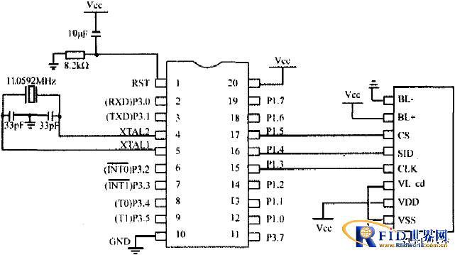 MCE与液晶显示器的连接电路图