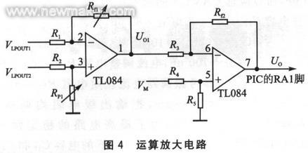 所以这里选用了性价比较高的四运放tl084作为信号调理电路.