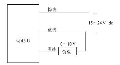 图3 传感器接线图-基于超声波传感器的车钩高度测量系统图片